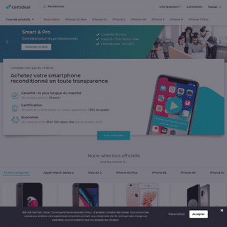 iPhone reconditionné - Samsung reconditionné - CERTIDEAL