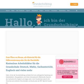 Grundschulkönig - Arbeitsblätter und Unterrichtsmaterial für die Grundschule