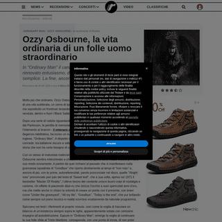 √ Recensioni - Dischi - Ozzy Osbourne - ORDINARY MAN su Rockol
