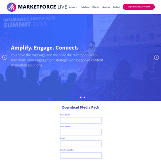 MarketforceLive - B2B Marketing Solutions - Amplify. Engage.Connect.