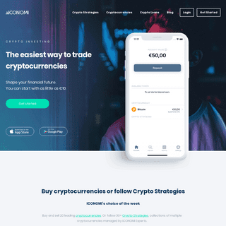 ICONOMI- Crypto investing made simple