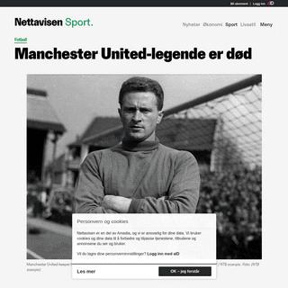 Fotball, Sport - Manchester United-legende er død
