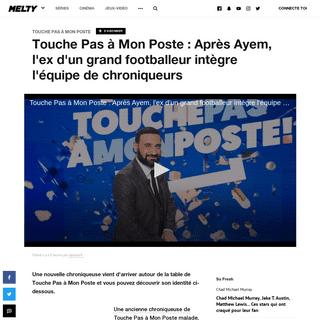 Touche Pas à Mon Poste - Après Ayem, l'ex d'un grand footballeur intègre l'équipe de chroniqueurs - melty