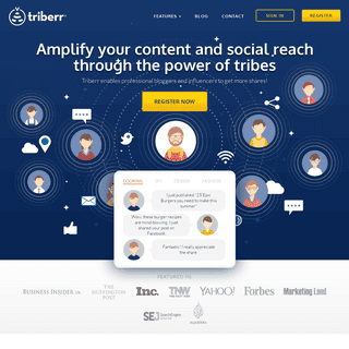 ArchiveBay.com - triberr.com - Content Marketing Suite for Influencers and Bloggers - Triberr