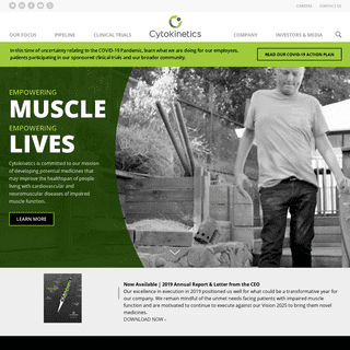 Cytokinetics - Muscle Biology Therapies - Home