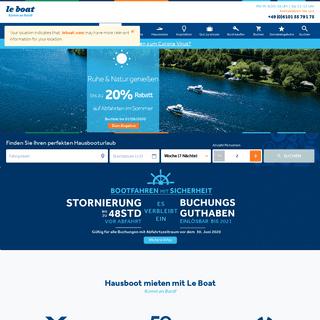 Hausboot mieten - Schaffen Sie Erinnerungen - Le Boat