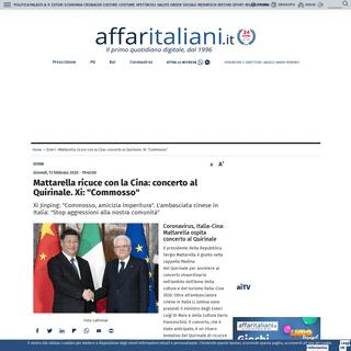 Mattarella ricuce con la Cina- concerto al Quirinale. Xi- -Commosso- - Affaritaliani.it