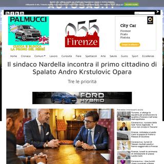 Il sindaco Nardella incontra il primo cittadino di Spalato Andro Krstulovic Opara