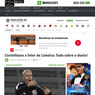 Corinthians x Inter de Limeira- Tudo sobre o duelo! - BeSoccer