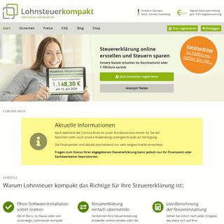 Lohnsteuer Kompakt - Steuererklärung online erstellen