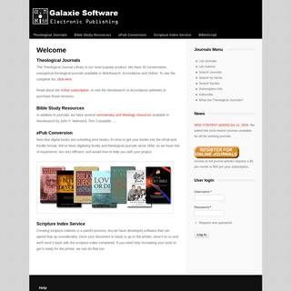 Welcome - Galaxie Software