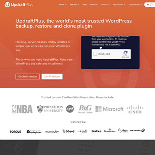 The World's Most Trusted WordPress Backup Plugin - UpdraftPlus