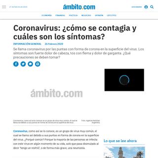 Coronavirus- ¿cómo se contagia y cuáles son los síntomas- - Coronavirus, Salud, China, Medicina, virus