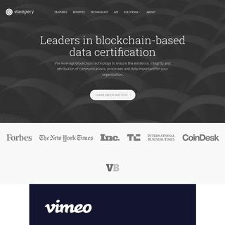 Leaders in blockchain-based data certification - Stampery