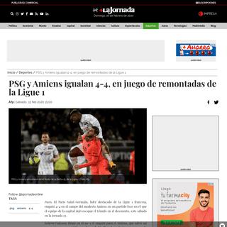 ArchiveBay.com - www.jornada.com.mx/ultimas/2020/02/15/psg-4-4-amiens-en-juego-de-remontadas-de-la-ligue-1-288.html - PSG y Amiens igualan 4-4, en juego de remontadas de la Ligue 1 - Deportes - La Jornada
