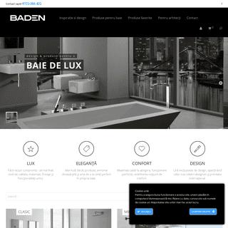 Baden - Pentru o baie perfecta - Design si produse pentru o baie de lux