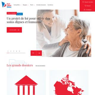 Le Parti libéral du Québec (PLQ), le parti politique de tous les Québécois
