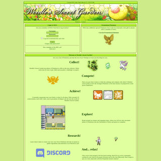 Index -- Weedle's Secret Garden