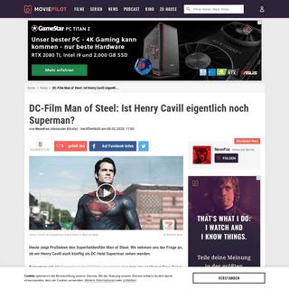 DC-Film Man of Steel- Ist Henry Cavill eigentlich noch Superman-