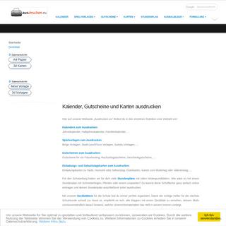 ArchiveBay.com - ausdrucken.eu - Ausdrucken von Kalendern, Gutscheinen, Karten, Spielvoralgen uvm.