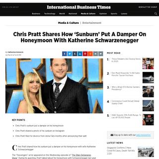 ArchiveBay.com - www.ibtimes.com/chris-pratt-shares-how-sunburn-put-damper-honeymoon-katherine-schwarzenegger-2925300 - Chris Pratt Shares How 'Sunburn' Put A Damper On Honeymoon With Katherine Schwarzenegger