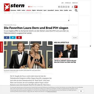 Nebendarsteller-Oscar- Die Favoriten Laura Dern und Brad Pitt siegen - STERN.de