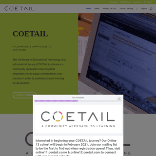 COETAIL - Certificate of Educational Technology and Information Literacy