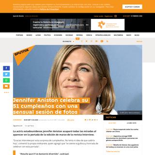 Jennifer Aniston celebra su 51 cumpleaños con una sensual sesión de fotos - Sputnik Mundo
