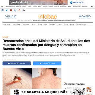 ArchiveBay.com - www.infobae.com/salud/2020/02/21/recomendaciones-del-ministerio-de-salud-ante-los-dos-muertos-confirmados-por-dengue-y-sarampion-en-buenos-aires/ - Recomendaciones del Ministerio de Salud ante los dos muertos confirmados por dengue y sarampión en Buenos Aires - Infobae