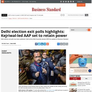 Delhi election LIVE- 42.20- voter turnout till now, sharp drop since 2015 - Business Standard News