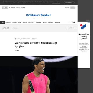 Viertelfinale erreicht- Nadal besiegt Kyrgios