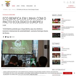 Eco Benfica Pacto Ecológico Europeu Apresentação - SL Benfica