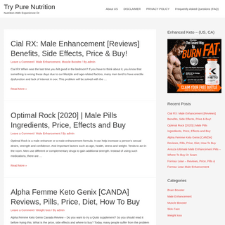 ArchiveBay.com - trypurenutrition.com - Try Pure Nutrition - Nutrition With Experience Dr