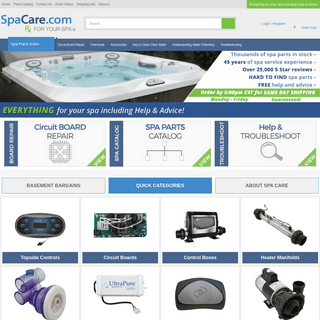 ArchiveBay.com - spacare.com - SpaCare - Circuit Board Repair, Spa Parts, Troubleshooting, Accessories