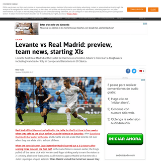 Levante vs Real Madrid- preview, team news, starting XIs - AS.com