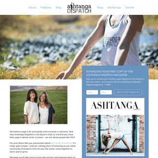 Welcome to Ashtanga Dispatch - Ashtanga Dispatch