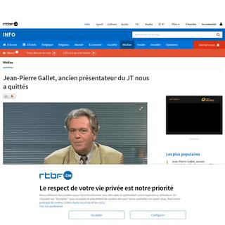 Jean-Pierre Gallet, ancien présentateur du JT nous a quittés
