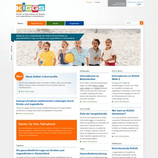 KiGGS - Studie zur Gesundheit von Kindern und Jugendlichen in Deutschland- Home