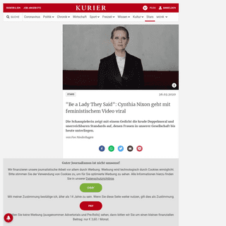 -Be a Lady They Said-- Cynthia Nixon geht mit feministischem Video viral - kurier.at