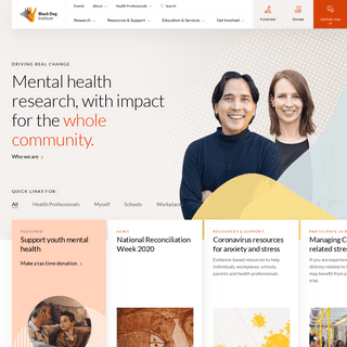 Black Dog Institute - Mental Health Research for the Whole Community