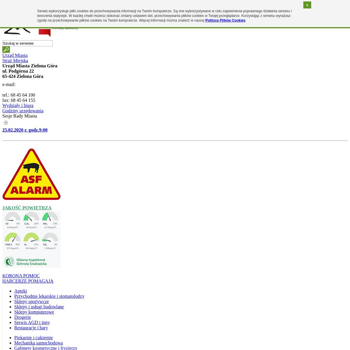 Zielona Góra – Internetowy Serwis Miejski – Strona główna