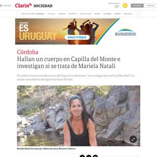 ArchiveBay.com - www.clarin.com/sociedad/hallan-cuerpo-capilla-monte-investigan-trata-mariela-natali_0_a7y3Hfr9.html - Hallan un cuerpo en Capilla del Monte e investigan si se trata de Mariela Natali - Clarín