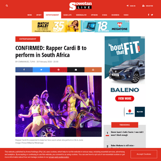 ArchiveBay.com - www.sowetanlive.co.za/entertainment/2020-02-20-confirmed-rapper-cardi-b-to-perform-in-south-africa/ - CONFIRMED- Rapper Cardi B to perform in South Africa