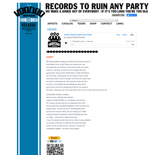 VOODOO RHYTHM RECORDS - Home