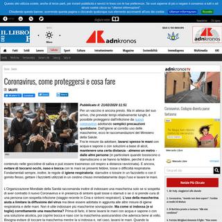 ArchiveBay.com - www.adnkronos.com/salute/2020/02/21/coronavirus-come-proteggersi-cosa-fare_qwYUrvdvOwxI6xcqcMo82N.html - Coronavirus, come proteggersi e cosa fare