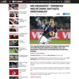 MKE Ankaragücü - Fenerbahçe maçı ne zaman, saat kaçta, hangi kanalda- - NTVSpor.net