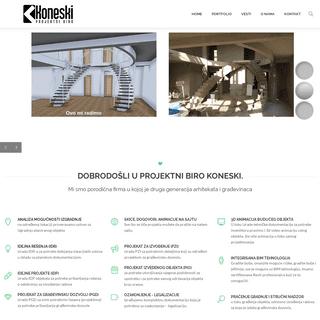 Arhitektura i konstrukcija projektnog biroa - Biro -Koneski-