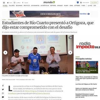 Estudiantes de Río Cuarto presentó a Ortigoza, que dijo estar comprometido con el desafío - Mundo D