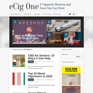 eCig One - E-Cigarette Reviews and News You Can Trust