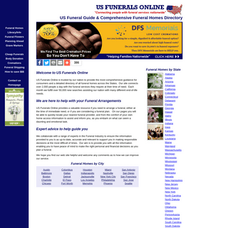 US Funerals Online - Consumer guide & directory listing all funeral homes and cremation providers in the US.